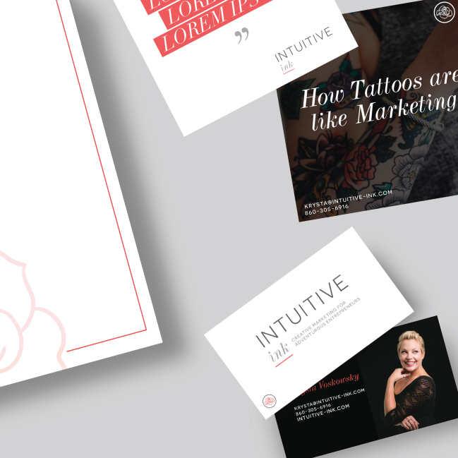 Intuitive Ink Brand Design - MC Creative - Mollie E. Coons